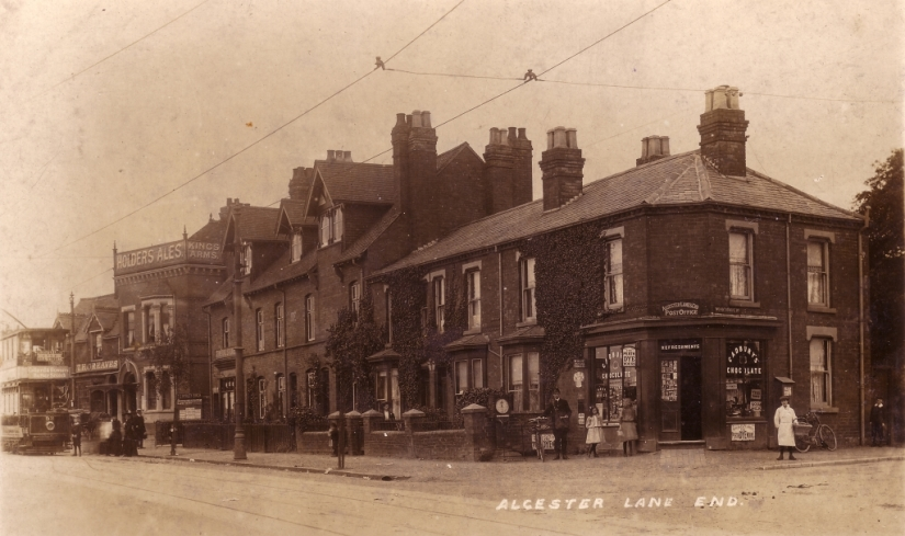Kings Arms 1907 Dawberry Fields Farm. Photo courtesy of Kings Heath Local History Society