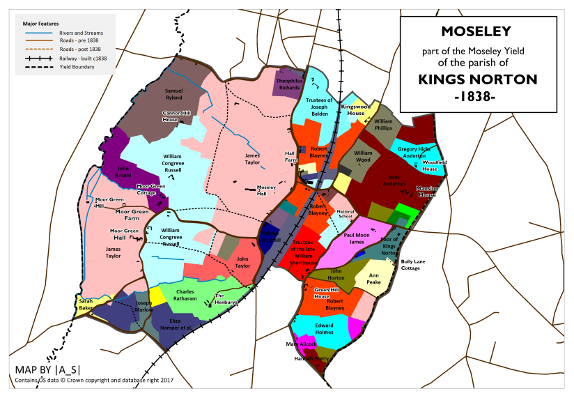 Moseley - Land Ownership 1838