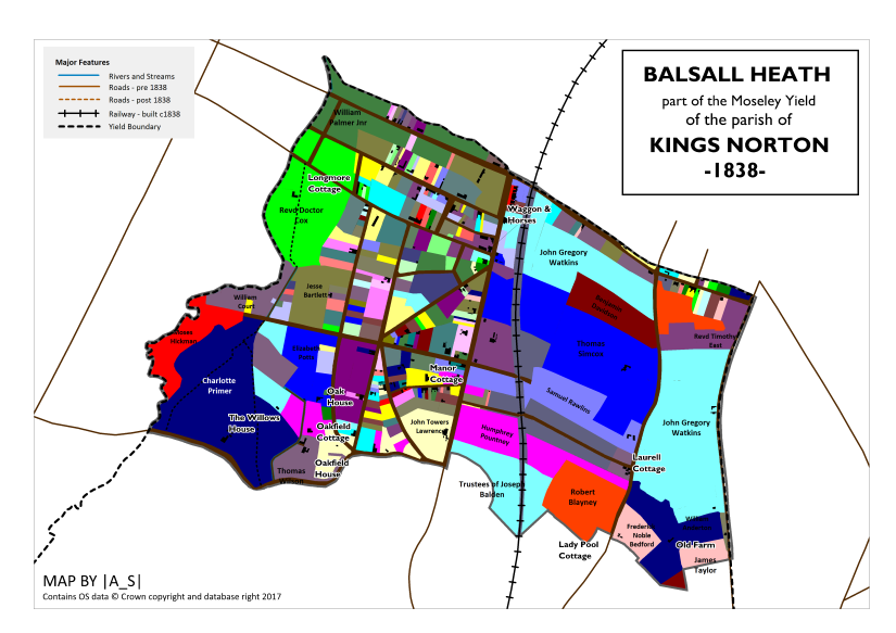 Balsall Heath - Land Ownership 1838