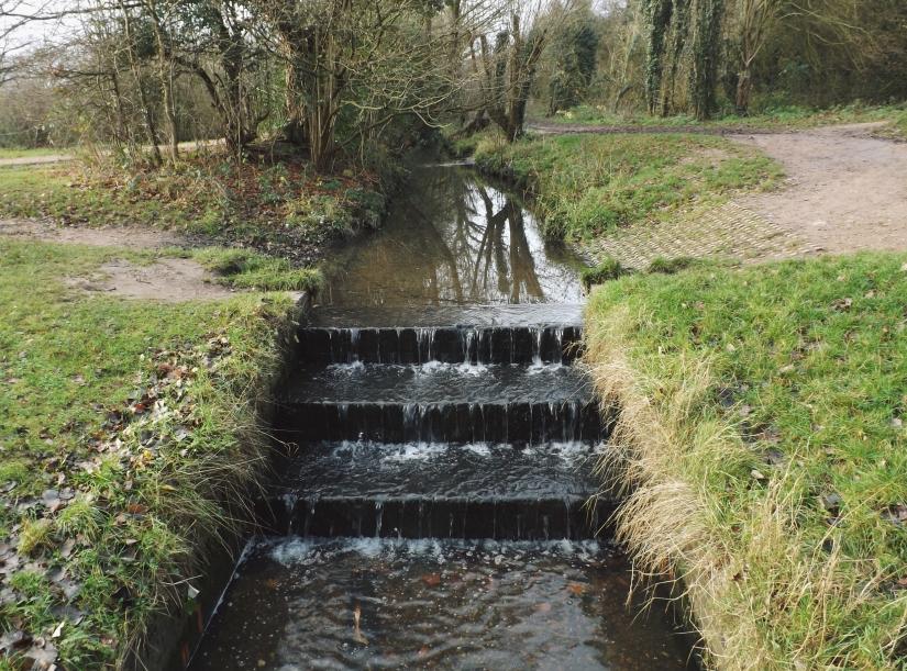 Three-step Weir along the Bourn Brook
