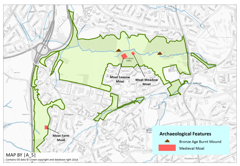 Archaeological Features of Woodgate Valley
