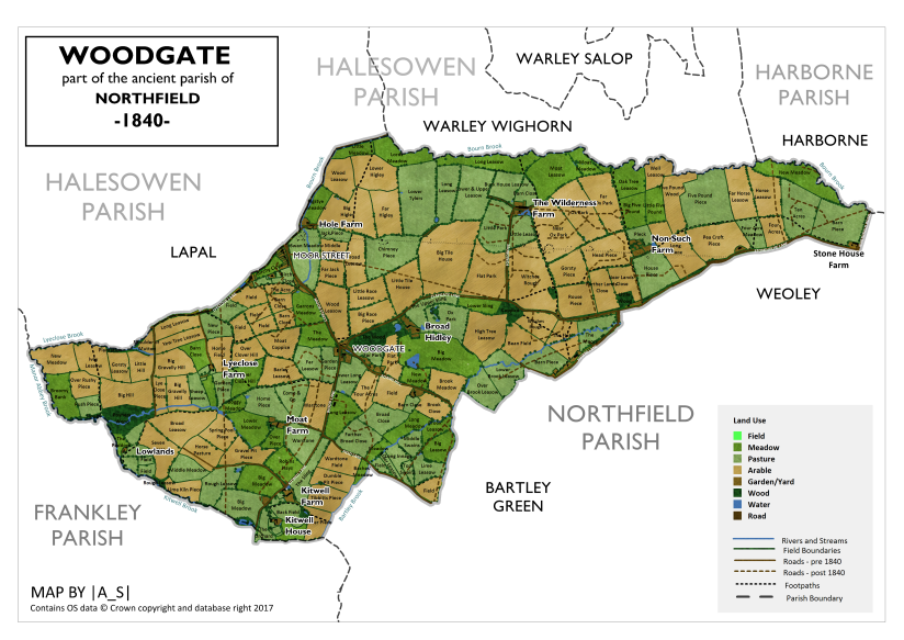 Woodgate - Land Use and Field Names in 1840