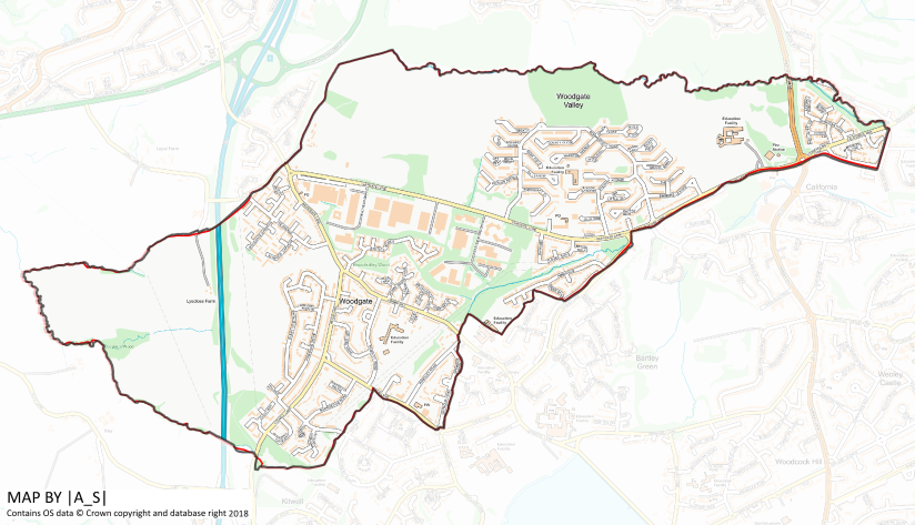 Woodgate  - Map Study Area