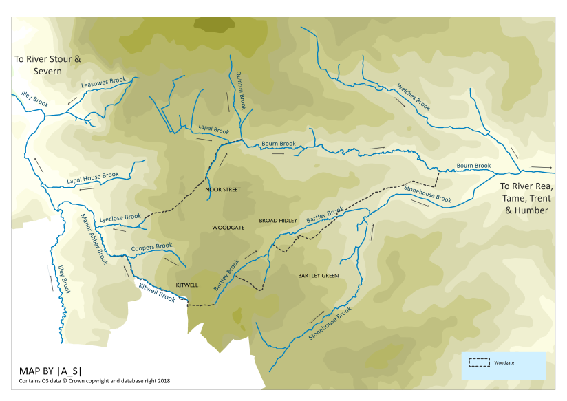 Rivers and Streams of the Woodgate area